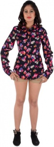 Women's Printed Casual Black, Pink, White, Blue Shirt (S9-W-FS-1503A)