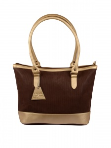 Designer Gold & Brown Handbag For Women (UC-W-HB-01B)