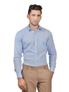 S9 Men Solid Formal Cotton Blend Shirt For Men(Sky Blue)  -S9-FS-253b2