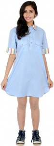 S9 Fashion Women's Shirt Light Blue Dress_S9-W-DD-207_Light Blue
