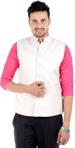 ForgeKo White Nehru Jacket (FO-M-WC-ECO-6)