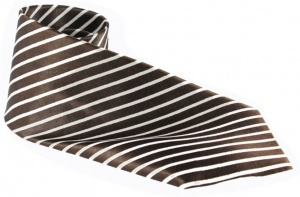 UNICARRESS Striped Men's Tie (Brown) RA-TY-101A