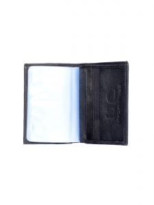 UniCarress- 6 Card Slots Casual & Formal Black Artificial Leather Wallet For Men (Black) UC-MW-022