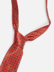 UNICARRESS Polka Print Men's Tie (Red) RA-TY-124B