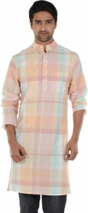 MEN Checkered Men's A-line Kurta  (Multicolor) ( S9-MK-602N)