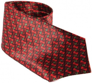 UNICARRESS Geometric Print Men's Tie (Red) RA-TY-105B
