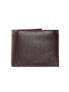 UniCarress Men's 4 Card Slots Casual Artificial Leather Wallet (Brown) UC-MW-21B