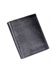 Uni Carress Men's 6 Card Slots Formal Genuine Leather Wallet (Black) UC-MW-013B