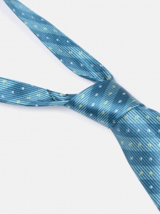 UNICARRESS Striped Men's Tie (Light Blue) RA-TY-122F