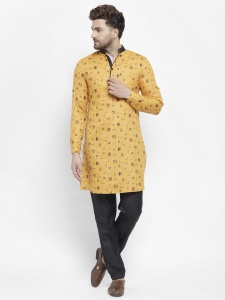 Men Cotton Rich Kurta Pajama Set (S9-KP-702C)