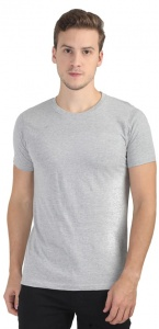 Plain Round Neck Cotton T shirt for Men  Grey Colored (UC-ONFU-4M6A)