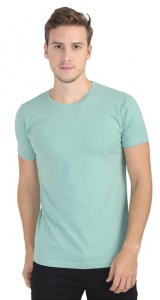 Plain Round Neck Cotton T shirt for Men  Light Green Colored (UC-ONFU-4M6B)