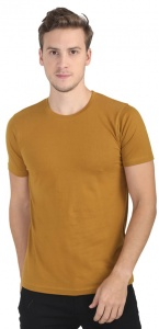 Plain Round Neck Cotton T shirt for Men Khakhi Colored (UC-ONFU-4M6C)