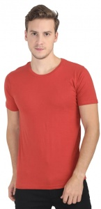 Plain Round Neck Cotton T shirt for Men  Red Colored (UC-ONFU-4M6D)