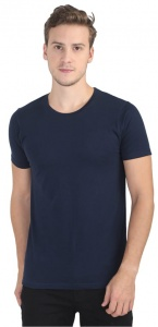 Plain Round Neck Cotton T shirt for Men  Navy Blue Colored (UC-ONFU-4M6E)