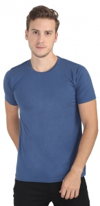 Plain Round Neck Cotton T shirt for Men blue Colored (UC-ONFU-4M6F)