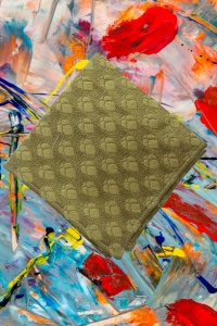 UNICARRESS Men Microfibre- Polyester Precinct Sheeny Pocket Square With Golden Jaquard (RA-PS-106)