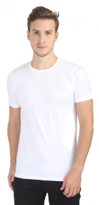 Plain Round Neck Cotton T shirt for Men White Colored (UC-ONFU-4M6G)