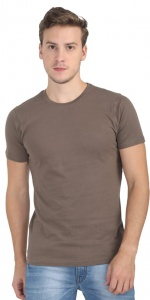 Plain Round Neck Cotton T shirt for Men Light Mauve  Colored (UC-ONFU-4M6I)