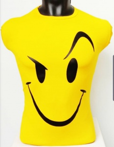 Round Neck Smiley Matty Tshirt for Men Yellow UC-GCU-004