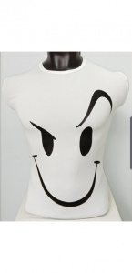 Round Neck Smiley Matty Tshirt for Men White UC-GCU-006
