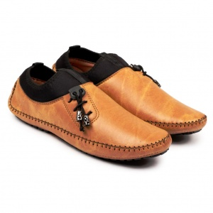 Men Tan Black Loafers UC-VGU-091075201A