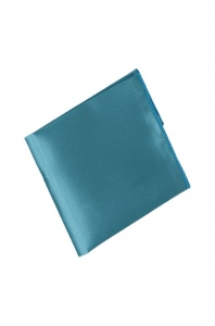 UNICARRESS Men Microfibre- Polyester Turquoise Pocket Square RA-PS-126