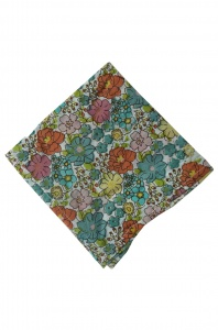 UNICARRESS Men Microfibre- Polyester Intermix Floret Pocket Square (Cotton Floral) RA-PS-122