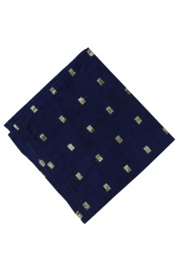 UNICARRESS Men Microfibre- Polyester Precinct Sheeny  Color Pocket Square (Blue Dobby Jaquard) RA-PS-127