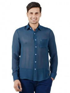 Men Solid Casual Shirt For Men (Blue) ( S9-FS-NIC-06)