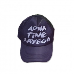 Polycotton Adjustable Cap With logo(Apna Time Aayega) For  Men/Women Unisex hat