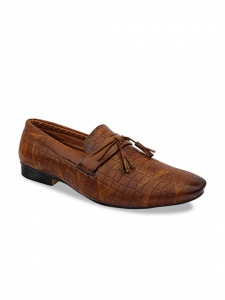 Men Tan Brown Synthetic Formal Loafers (DU-B2-LFR-001C/TAN)
