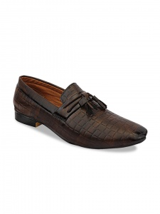 Men Brown Synthetic Formal Loafers (DU-B2-LFR-001A/BROWN)