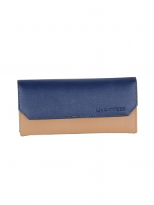 Uni Carress Casual Blue And Beige Clutch For Ladies (UC-WW-003C)