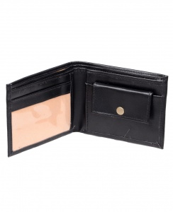 Uni Carress- 6 Card Slots Casual & Formal Black Artificial Leather Wallet For Men (Black) UC-M-W-05
