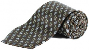 UNICARRESS Geometric Print Men's Tie (Brown)  RA-TY-103E