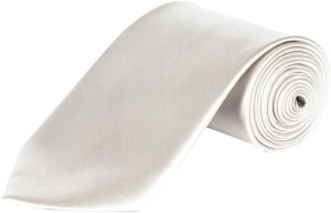 UNICARRESS Solid Men's Tie (Silver) Carma-Ty-313