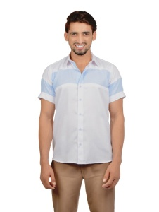 S9 Men Solid Casual Party Cotton Blended Shirt For Men  (1)