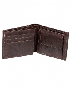 UniCarress- 6 Card Slots Casual & Formal Black Artificial Leather Wallet For Men (Black) UC-M-W-06