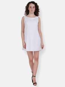 Designer Schiffli Short Dress For Women (ZINN=ZIB-2X-012)