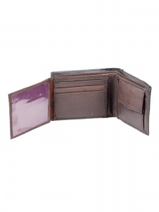 UniCarress- 6 Card Slots Casual & Formal Black Artificial Leather Wallet For Men (Black) UC-MW-07