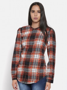 Zinniars Multi Color Checkered Print Shirt For Women (Z-2X-TnB-0010A)