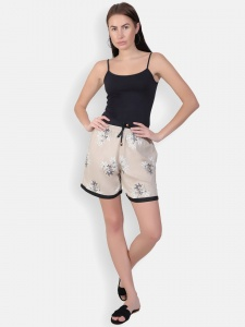 Cute sleepwear / Night Shorts featuring Shorts for relaxed fit(SC-shorts-20202B)/BEIGE
