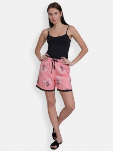 Cute sleepwear / Night Shorts featuring Shorts for relaxed fit(SC-shorts-20202D)/PINK