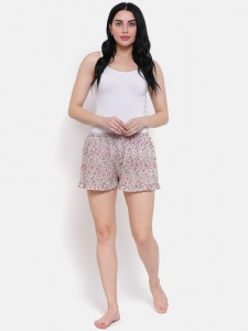 Multi Floral Detail printed Cotton  Night Shorts Ideal For Women (Z-NS-006)