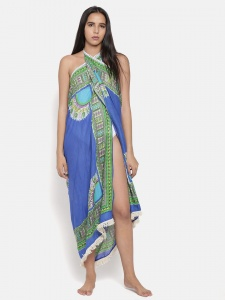 Zinniars Stylish Printed Blue Sarong For Women (Z-BW-03A)