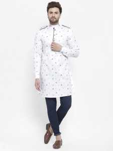 Men Latest Designer Printed Pathani Kurta (S9-MK-704)