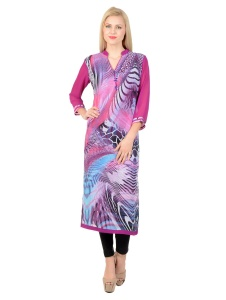 SRK Georgette Printed  A-line Kurti For Women