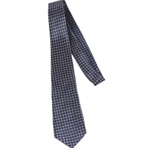 UNICARRESS Checkered Men's Tie (Blue) RA-TY-127C