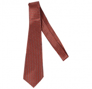 UNICARRESS Checkered Men's Tie (Red) RA-TY-127B